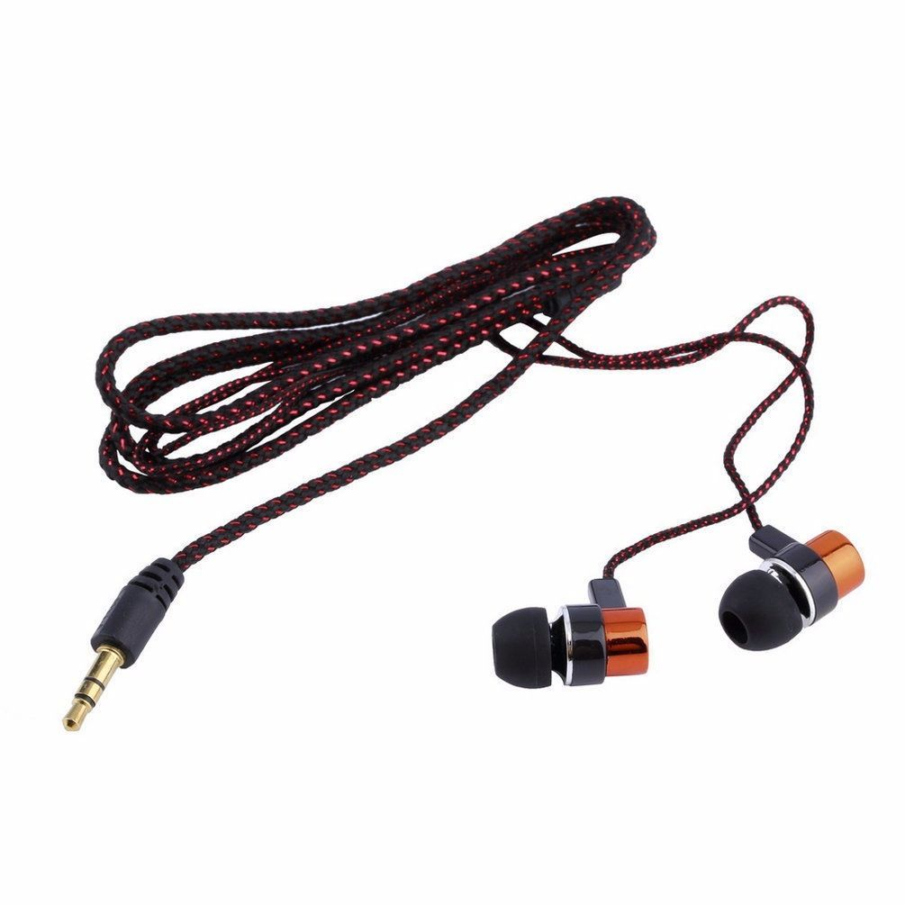 Red - 3.5mm Jack In-Ear Piston Earphone Headphone Headset Earbuds for Mp3 Mp4 PC Phone