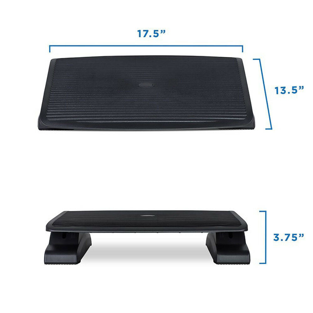 Ergonomic Comfort Footrest Adjustable Angle and Height Office Foot Rest Stool