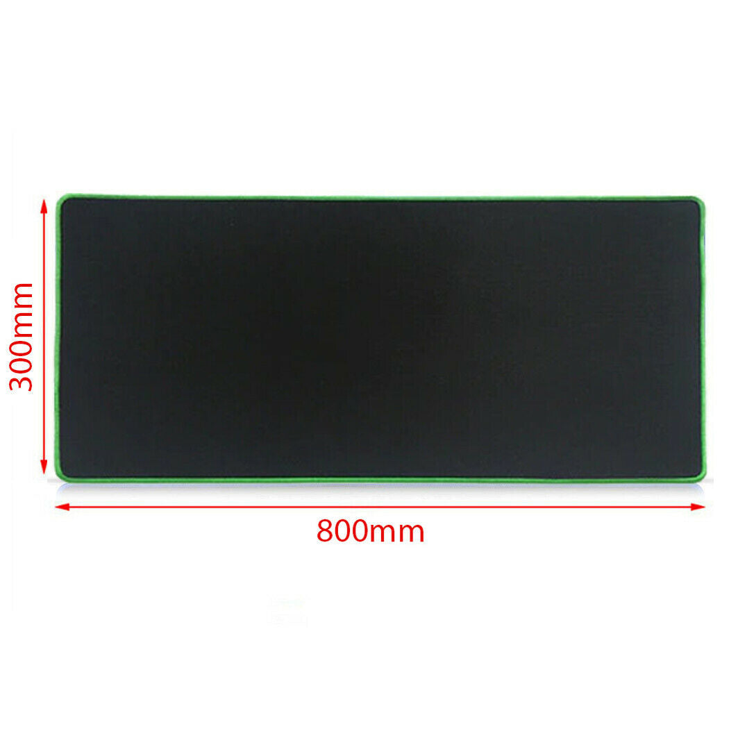 Green 80x30cm Extra Large Size Gaming Mouse Pad Desk Mat Anti-slip Rubber Mouse Pad