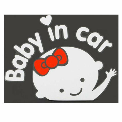 Baby Girl on Board / In Car Safety Sign Sticker for Car Window Bumper Decal