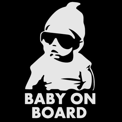 Silver Baby On Board Hangover Baby Sticker Sign Safety Vinyl Decal