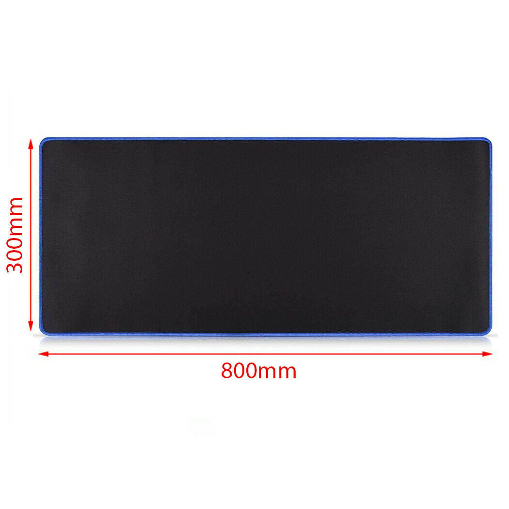 Red 80x30cm Extra Large Size Gaming Mouse Pad Desk Mat Anti-slip Rubber Mouse Pad