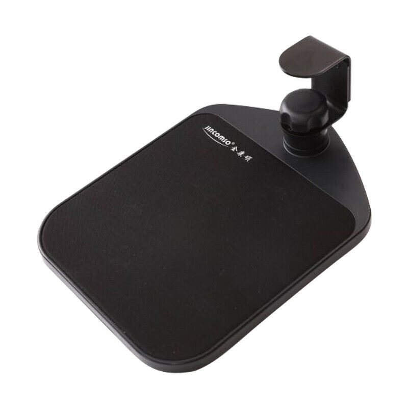 Ergonomic Mouse Pad with Adjustable Under Desk Table Wrist Rest Platform - Black