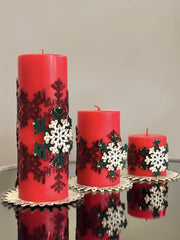 Christmas Snowflake Candle Set - creativehome-designs