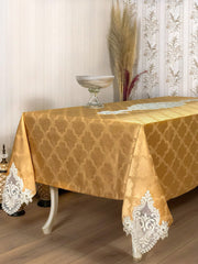 Demet Tablecloth Mustard - creativehome-designs