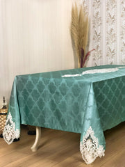 Demet Tablecloth Turquoise - creativehome-designs