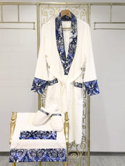 Deren Blue Bathrobe (His) - creativehome-designs