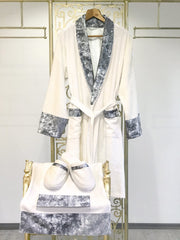 Ela Gray Bathrobe (His) - creativehome-designs