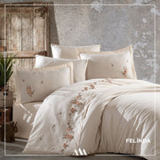 Maribor Felinda - Embroidered Luxury Duvet Cover Set - creativehome-designs