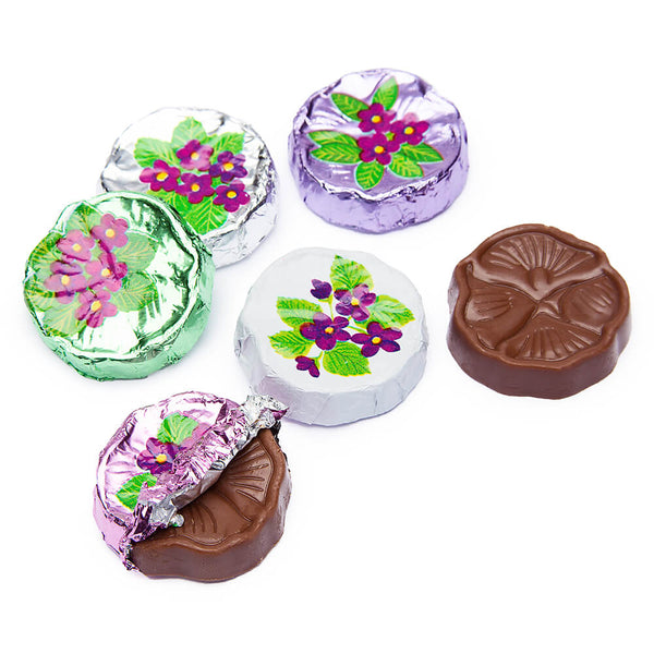Milk Chocolate Foil Wrapped Violets