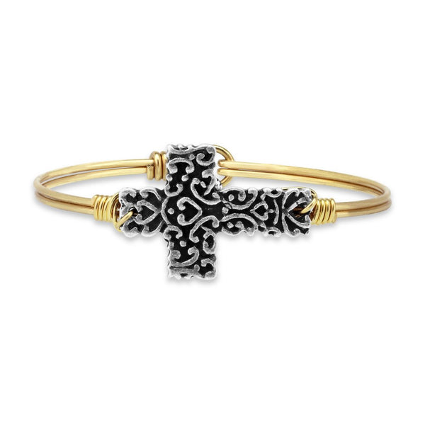 Luca + Danni - Ornate Cross Bangle Bracelet