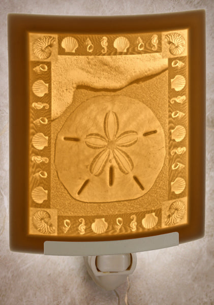 The Porcelain Garden - Sand Dollar Nightlight