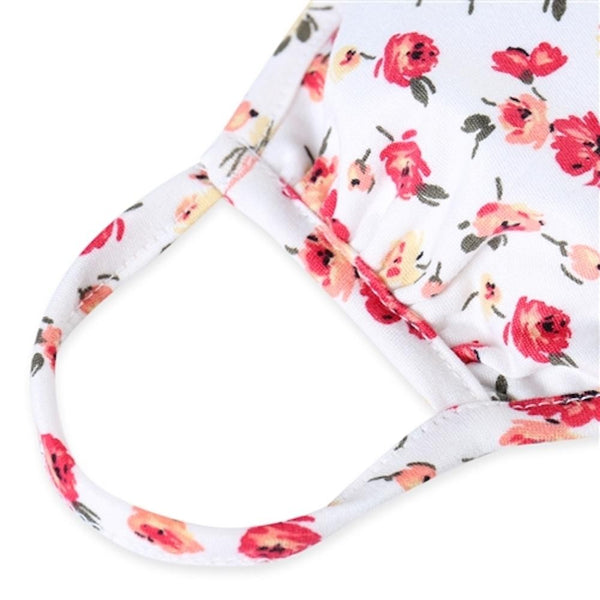 Multi Color White Floral Kids Face Mask