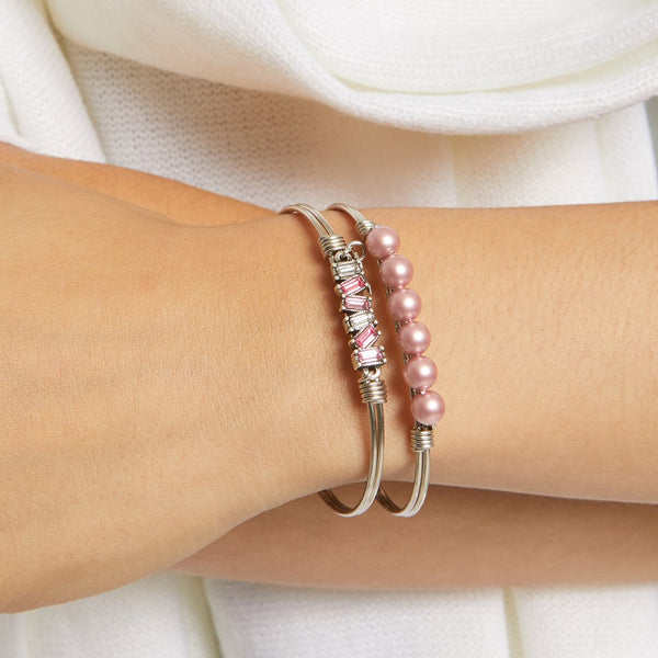 Luca + Danni - Mini Hudson Bangle Bracelet in Pink Ombre