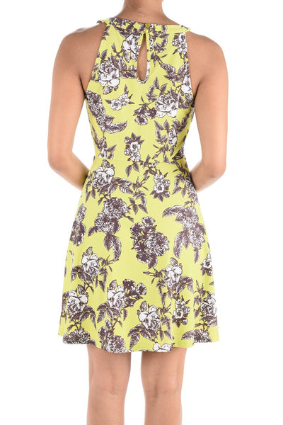 Lemon Sleeveless Fit & Flare Dress