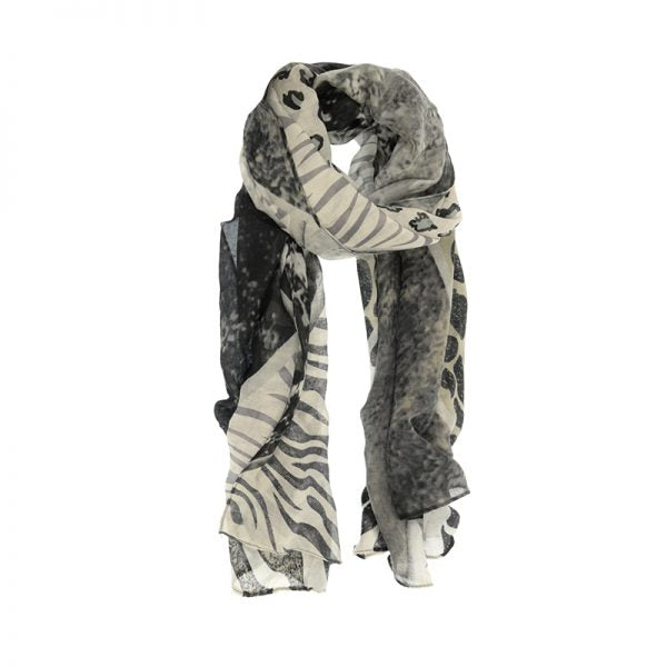 Animal Safari Scarf - Black
