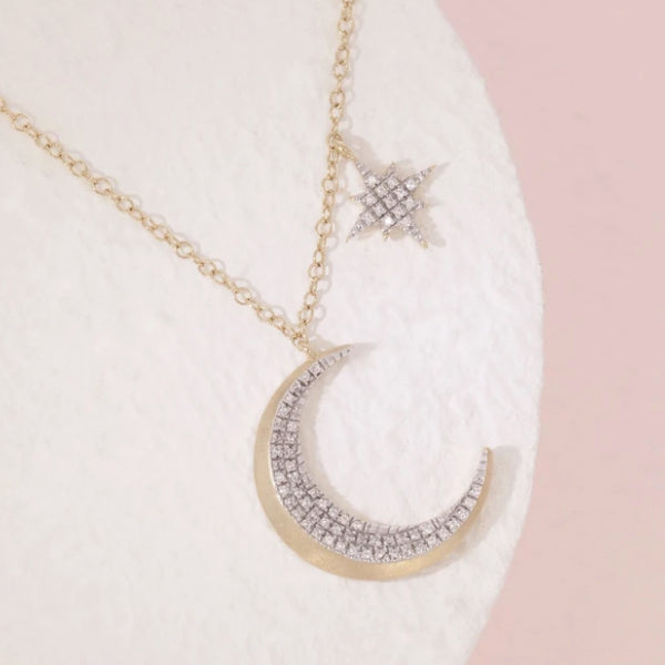 Ella Stein Fly Me to the Moon Necklace