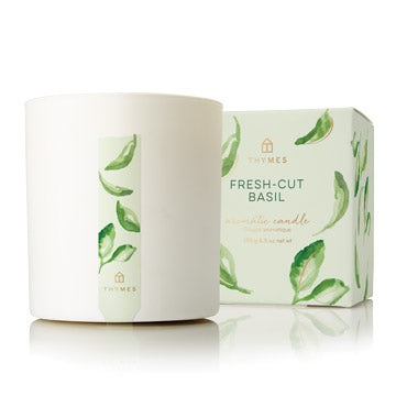 Thymes - Fresh-Cut Basil Candle - 8 oz