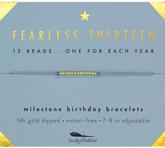 Lucky Feather - 13th Birthday Adjustable Bracelet