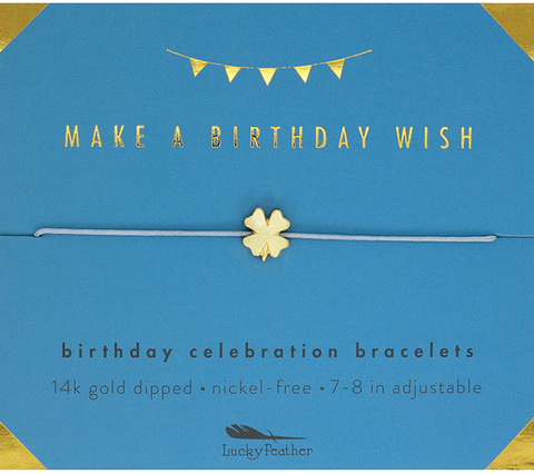 Lucky Feather - Birthday Wish Adjustable Bracelet