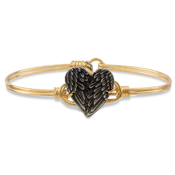 Luca + Danni - Angel Wing Heart Bangle Bracelet