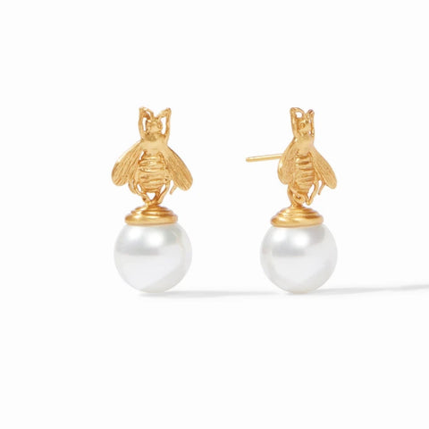 Julie Vos Bee Pearl Earrings