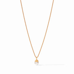 Julie Vos Florentine Pearl Charm Necklace