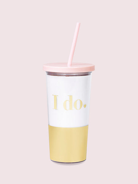 Kate Spade - I Do Tumbler w/Straw