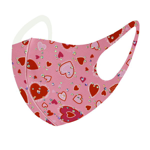 Heart Face Mask- Pink