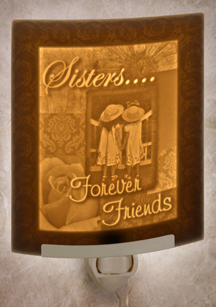 The Porcelain Garden - Sisters...Forever Friends Nightlight