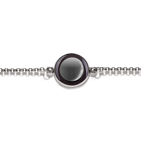 Moonglow - Waxing Crescent Bracelet - Silver