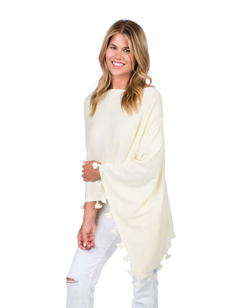 Cashmere Blend Tassel Dress Topper Lemon Ice