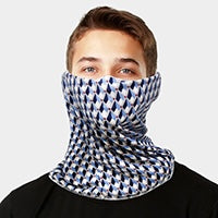 Blue Diamond Adult Face Scarf