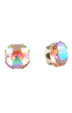 JoJo Cushion Cut Earrings Blush Shimmer