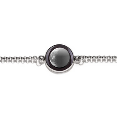 Moonglow - Waning Crescent Bracelet - Silver