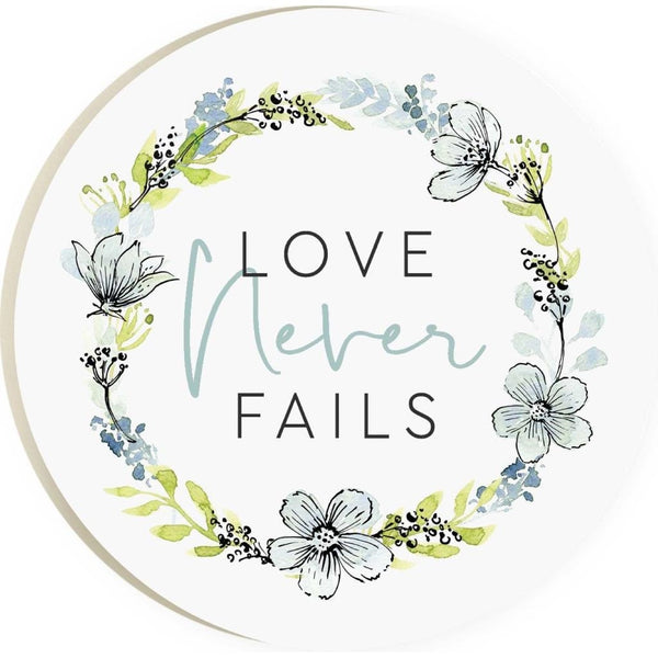 Love Never Fails Coaster