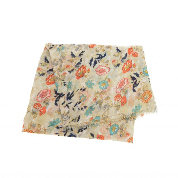 Multi Garden Party Scarf - Beige