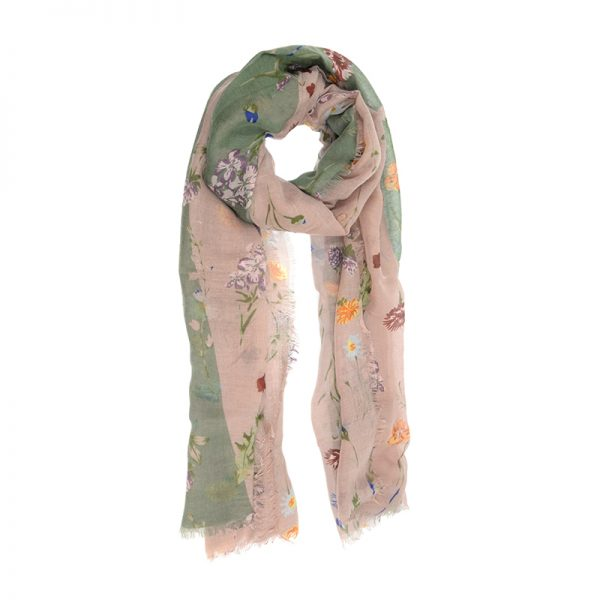 Scattered Bouquet Scarf - Lilac & Fern