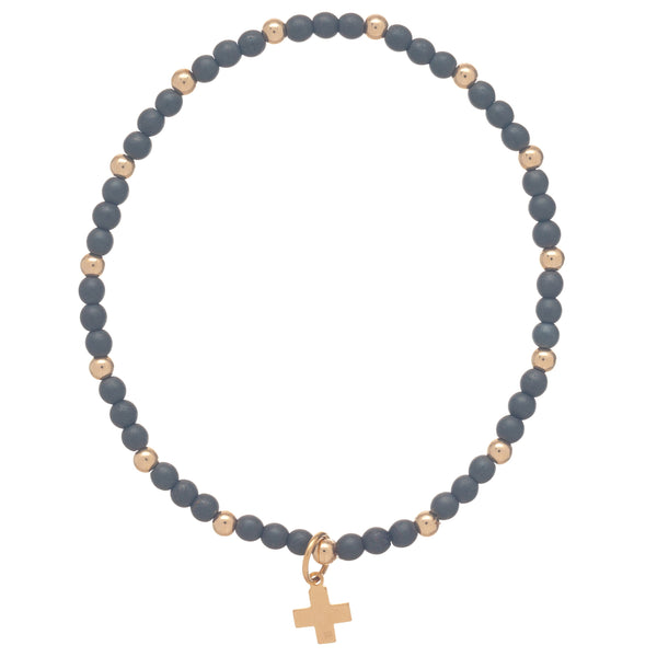 enewton Sincerity  3mm Beaded Bracelet with Cross