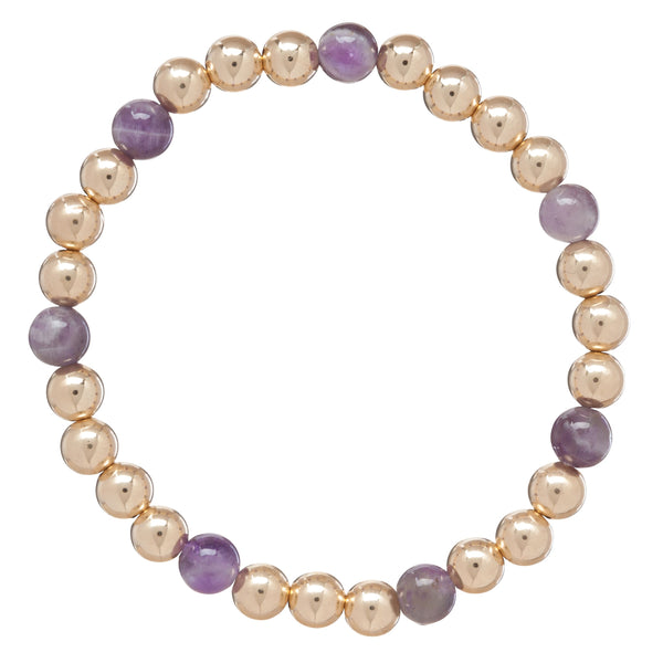 enewton Gold Sincerity Pattern 6mm Beaded Bracelet