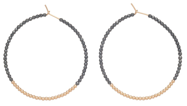 enewton Hemetite Bliss Hoop Earrings