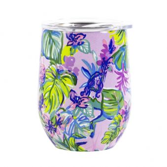 Lilly Pulitzer Stemless Wine Mermaid in the Shade