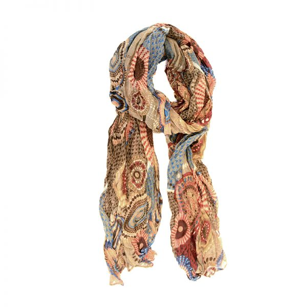 Dots and Daisy Scarf - Camel