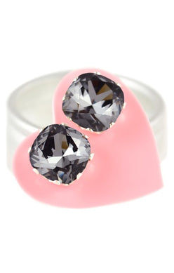 JoJo Cushion Cut Bling Black Sparkle