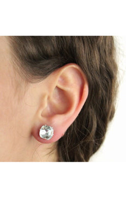 JoJo Cushion Cut Bling Earrings Ice