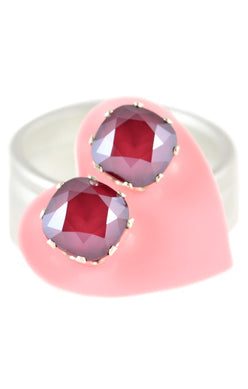 JoJo Cushion Cut Bling Merlot
