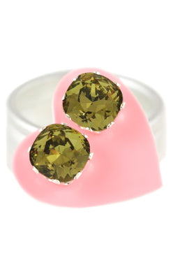 JoJo Cushion Cut Bling Olive