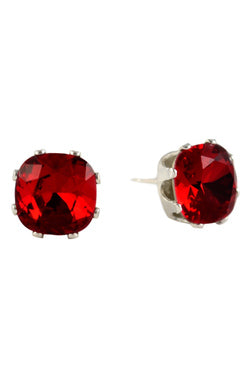 JoJo Cushion Cut Bling Earring Ruby