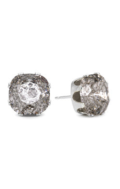 JoJo Cushion Cut Bling Silver Patina