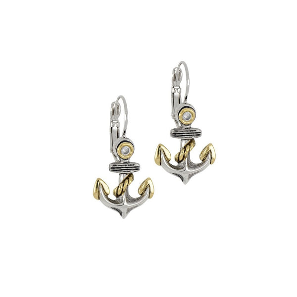 John Medeiros Ocean Images Anchor Earrings